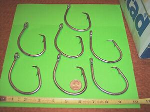7 Mustad Circle Hook 20/0 Deep Sea Fishing Hooks 39960-DT Shark Tuna Swordfish