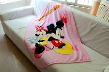 cute pink minnie mouse coral fleece blanket rug blankets U157 little quilt new