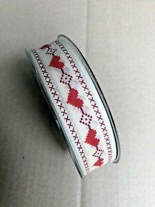 Drahtband Weihnachten gold weiß creme 25mm Advent R1 0,30€//m 20m Schleifenband