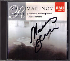 Marris JANSONS Signed RACHMANINOV Symphony No.2 Scherzo Vocalise CD Rachmaninoff