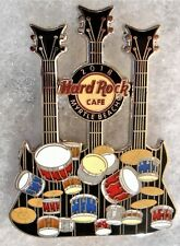HARD ROCK CAFE MYRTLE BEACH DRUMS & CYMBALS TRIPLENECK GUITAR PIN # 98318