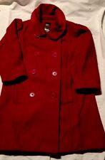 Baby Gap Red Wool Dressy Coat Red Warm Holidays Xmas Sz 3 Toddler