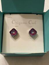 Origami Owl Burgundy Delite Earrings