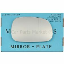 For BMW Z3 Roadster 95-03 Right Driver side Aspheric wing mirror glass +plate