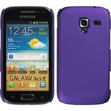 Hardcase for Samsung Galaxy Ace 2 rubberized purple Cover + protective foils