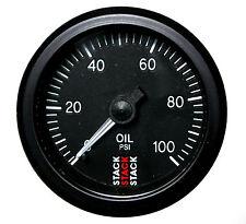 Stack 0-100 PSI Oil Pressure Gauge 52mm Mechanical Black face Illuminated 3102