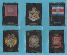 SILKS  -  TURKISH  MACEDONIAN TOBACCO  -  6  RARE  SILK  CARDS   ( GG )  -  1930