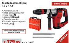 Martello demolitore  TE-DH 12 Pneumatico sds max 12 J leggero 7,2kg einhell