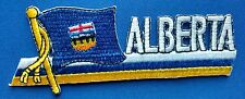 Alberta Flag Patch Embroidered Iron On Applique