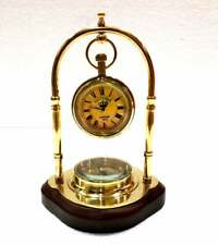 Victoria London Reproduction Antique Style Brass Hanging Watch with Directional