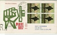 Italy 1967 Celebrating Resistance of Piave Registered FDC Stamps Cover ref 22430