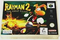 Nintendo 64 Rayman 2 The Great Escape Game System Console Cartridge COMPLETE