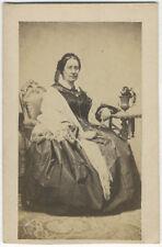 Photo Carte de Visite Cdv Femme Vers 1860