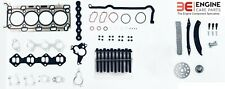 RENAULT TRAFIC 2.0 DCi M9R DIESEL TIMING CHAIN KIT + HEAD GASKET SET & BOLTS