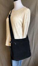 HOBO INTERNATIONAL Crossbody Organizer Bag Purse Adjustable Strap BLACK Fabric