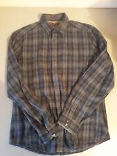 Espirit longsleeve small madras Brown/purple/Gray design shirt Regular fit