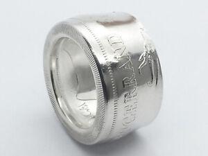 Münzring Afrika Krügerrand Feinsilber 999er Größe 58 bis 74 Münzringe Ring