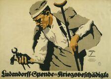 Ludendorff Fund for War Disabled - German WW1 Propaganda Poster