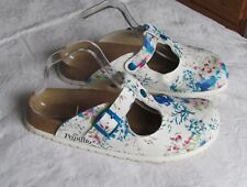 Papillio By Birkenstock Ladies Electric Blue & White Clogs Sandals Size 7 EU 40