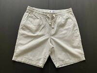 old navy Man's Shorts Pants Linen /Cotton White 2 Pocket Size L/G