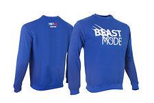 Mens Classic BEAST MODE Gym T-Shirt Alternative Jumper Top Bodybuilding Wear BLU
