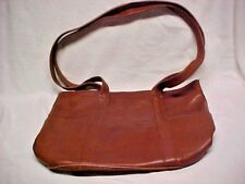 HOBO International Brown Real Leather Shoulder Tote Hand Bag Purse Spacious