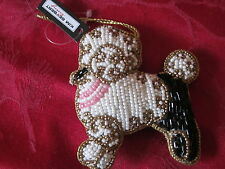 KIM SEYBERT POODLE DOG CHRISTMAS ORNAMENT DECOR NEW WITH TAG