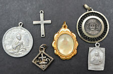 More details for 6 x christian / catholic pendants ~ medals / medallions