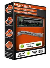 Renault Scenic Unidad Principal Estéreo de Coche, Kenwood CD MP3 Player Con Usb/Aux Frontal en