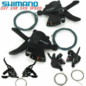 Bike Gear Shifter 3x7x8x9 21 24 27 Speed Shift Lever Cable Trigger Shimano Altus