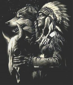 INDIAN CHIEF # 12 - COUNTED CROSS STITCH CHART