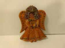 Angel Holding Open Book Resin Christmas Tree Ornament Decoration ch1307