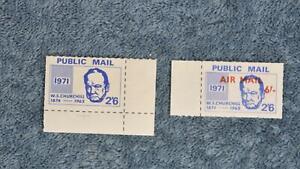 1971 Postal Strike Singles - Winston Churchill - Regular+Airmail Overprint - MNH