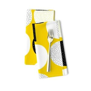 Moon Summer Circle Geometric Sun Cotton Dinner Napkins by Roostery Set of 2