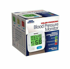 WrisTech JB7608 Wrist Blood Pressure Monitor With Color Changing Display