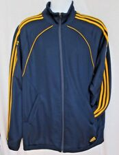 David Beckham LA Galaxy Adidas Full Zipper Jacket Mens Large Blue Yellow 23
