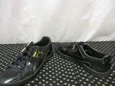 "Puma ""Clyde"" Basketball Mens Shoes Black Patent Leather Size 10 EXC"