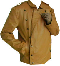 Classyak Men Rocketeer Real Leather Jacket Brown, High Quality Leather, Xs-5xl