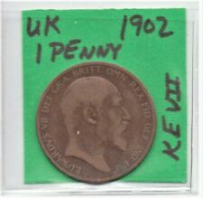 Uk Great Britain (England) 1902 Penny King Edward Vii as pictured