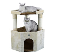 Cat Tree Scratching Tower Post Condo Pet House Scratcher Furniture Bed New 32""