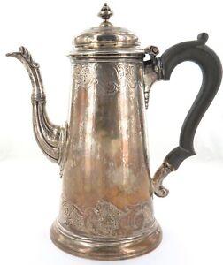 .1736 ENGLISH STERLING SILVER QUALITY HEAVY SET COFFEE POT. MAKER RICHARD BAYLEY