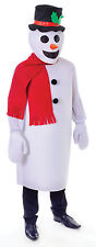 MENS ADULT SNOWMAN CHRISTMAS FANCY DRESS FULL COSTUME