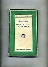 Isak Dinesen # UNA NOTTE A PARIGI # Mondadori 1936 2A ED.