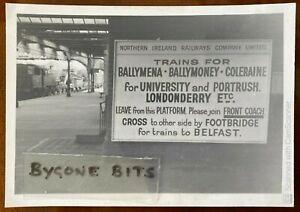 NIR Railway Platform Derry Coleraine Portrush etc Photograph Trains Ireland 1970