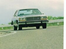 1984 Ford LTD CROWN VICTORIA Brochure w/ Color Chart: Station Wagon, Squire,Vic
