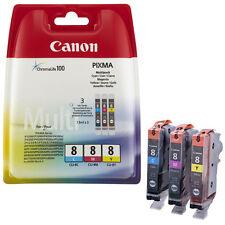 Canon CLI-8 C/M/Y PIXMA iP3300/3500/4200/4300/4500/5200/R/5300/6600D/6700D/Pro90