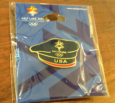 Salt Lake City 2002 USA Team Beret Olympic Pin - Great for Trading