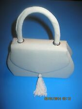 Alfa New Grosgrain purse evening bag with tassel shoulder strap  Ivory