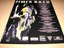 JIMI HENDRIX - !!JIMI'S BACK!!!!!!!!FRENCH PRESS ADVERT