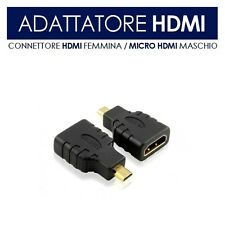 ADATTATORE MICRO HDMI COMPUTER PC NOTEBOOK 1080P HD SMARTPHONE E TABLET